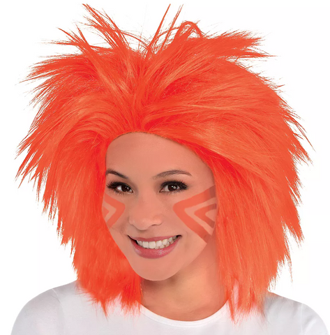 Orange Crazy Wig | 1 ct