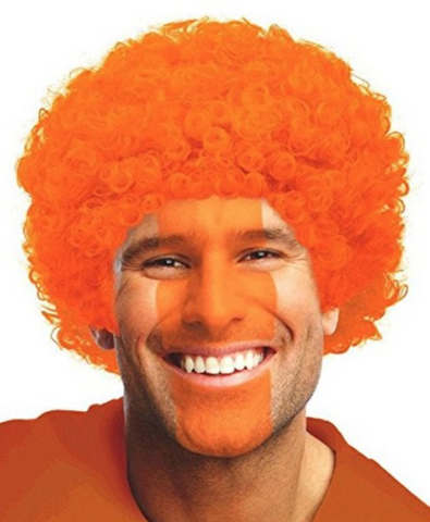 Orange Curly Wig | 1 ct