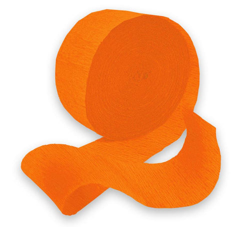 Orange Peel 81' Crepe Paper Streamer