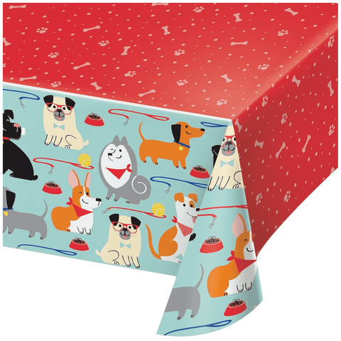 "Pawesome Dog Party Table Cover 54"" x 102"" 