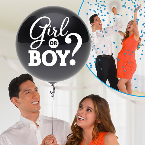 Blue gender reveal balloon 24"