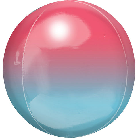 Red/Blue Ombre Orbz Balloon 15"