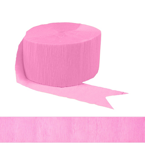 New Pink 81' Crepe Paper Streamer