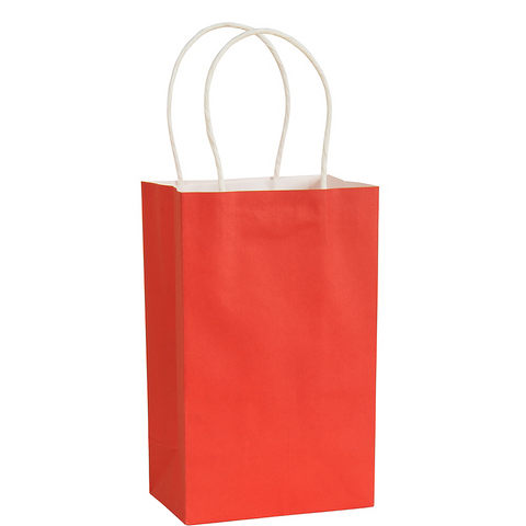 Apple Red Small Paper Gift Bag, 8'' | 1 ct