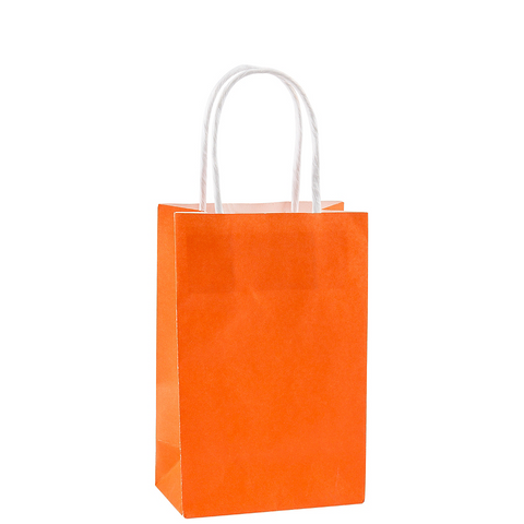 Orange Small Paper Gift Bag 8"