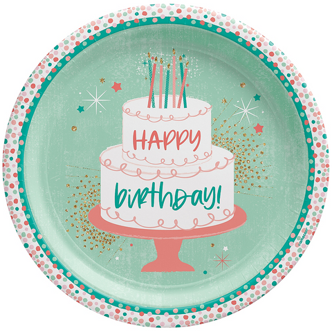 Happy Cake Day Birthday Dinner Plates 10"