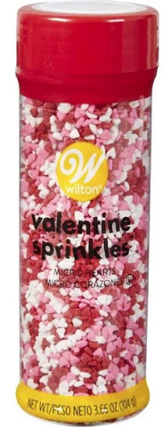 Sprinkles Mix Red, Pink & White Micro Hearts | 3.66Oz