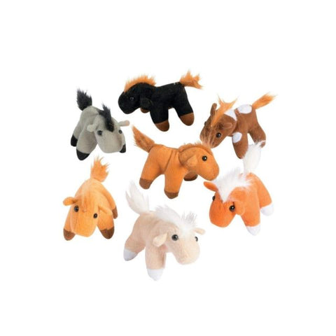 Plush Realistic Horses | 12ct