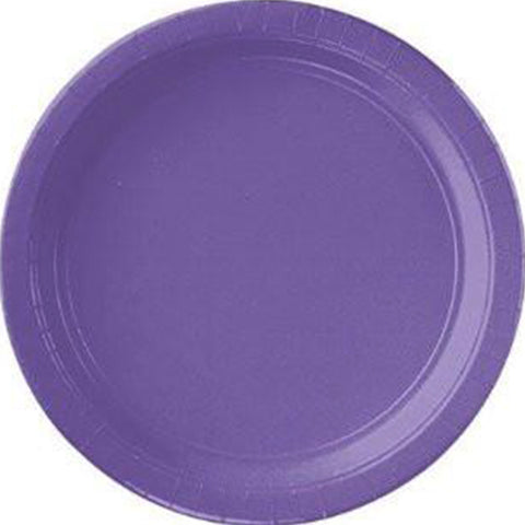 "New Purple 10.5"" Paper Plates 