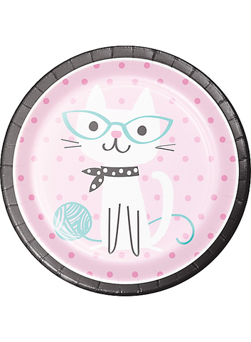 Purr-fect Cat Lunch Plates 9"