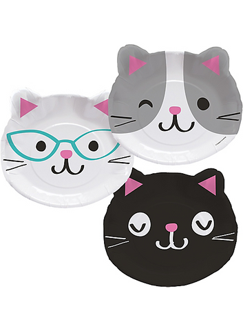 Purr-fect Cat Assorted Plates 9"