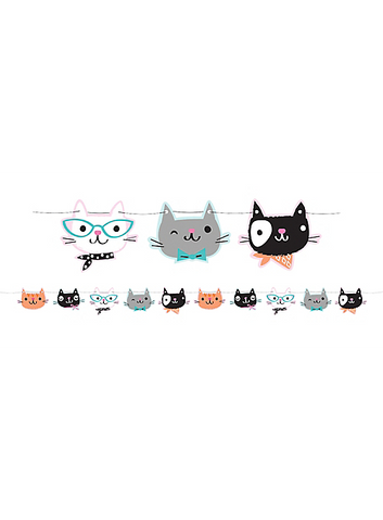 Purr-fect Cat Party Banner