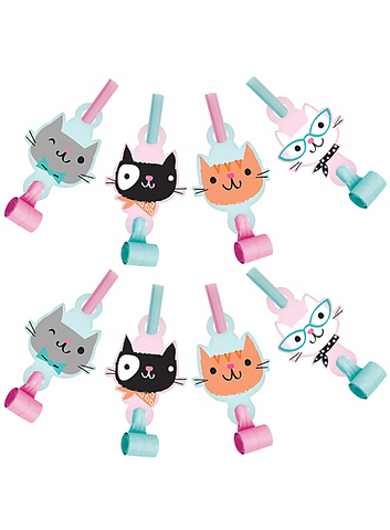 Purr-fect Cat Party Blowouts | 8ct