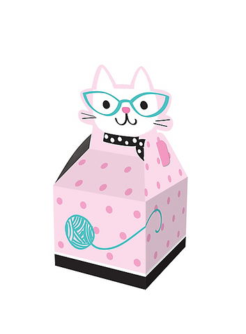 Purr-fect Cat Party Favor Boxes | 8ct