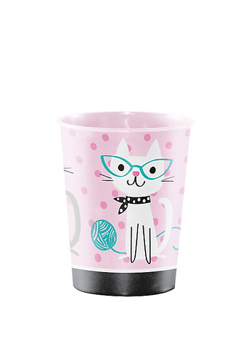 Purr-fect Cat Party Favor Cup 16oz | 1ct