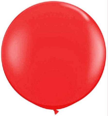 Ruby Red Latex Balloon, 36"