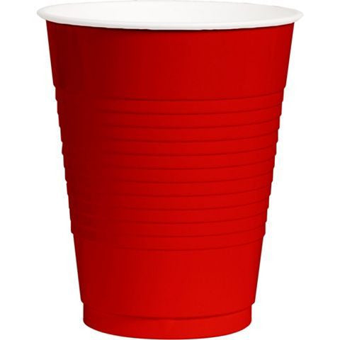 Apple Red 12oz Plastic Cups | 50ct