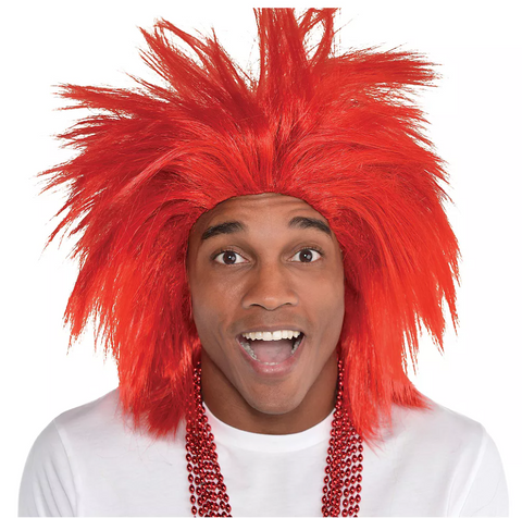 Red Crazy Wig | 1ct