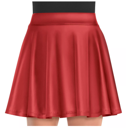 Red Flare Skirt | Adult