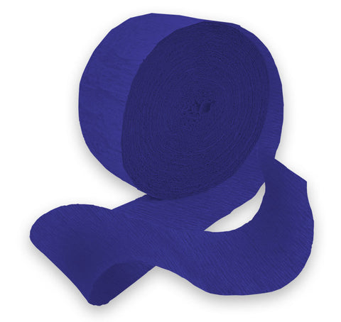 Royal Blue 81' Crepe Paper Streamer