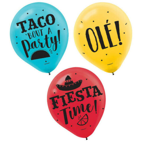 Fiesta Latex Balloons | 15ct