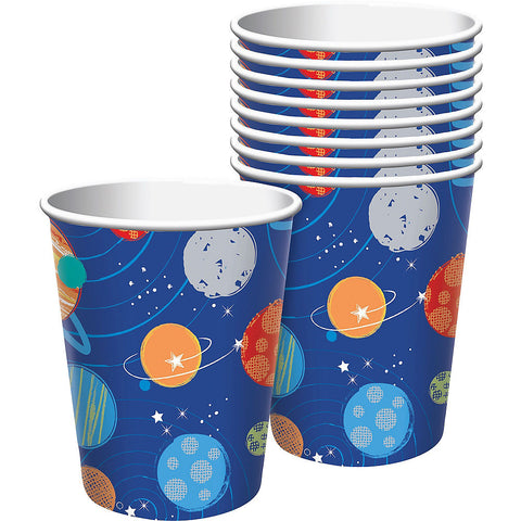 """Blast Off"" Space Party Paper Cups 9 oz