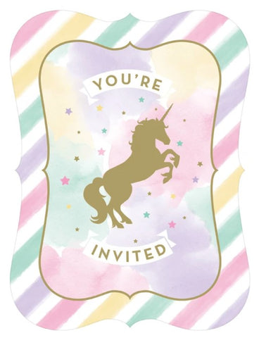Sparkle Unicorn Invitations | 8ct