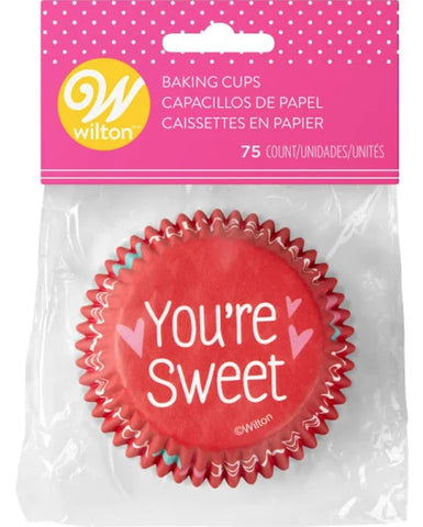 Standard Baking Cups Valentine Message | 75ct