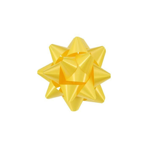 Star Bow, Yellow 3.5"