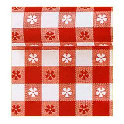 Summer Gingham Check Red Plastic Table Roll | 100' x 40""