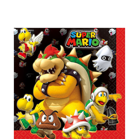 Super Mario Lunch Napkins  | 16ct