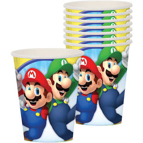 Super Mario Bros. Paper Cups 9oz | 8ct