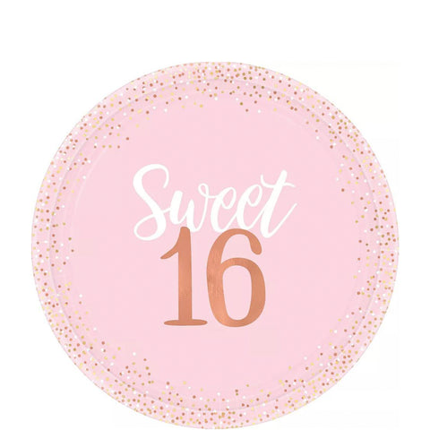 Sweet 16 Pink Lunch Plates | 8ct