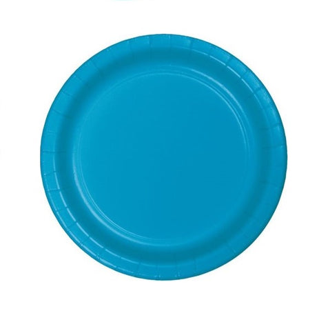 "Turquoise 7"" Paper Plates 