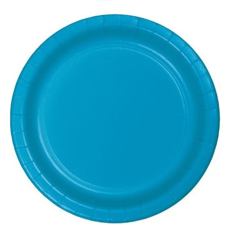 "Turquoise 9"" Paper Plates 