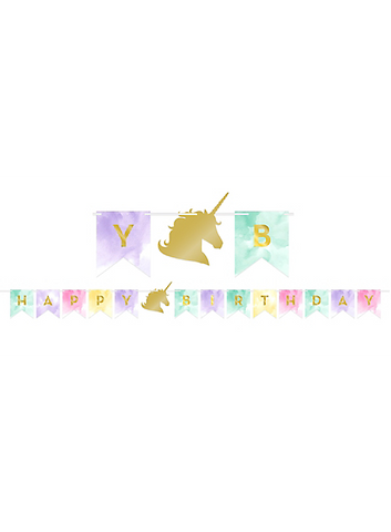 Sparkle Unicorn Pennant Banner | 1ct