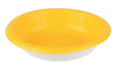Yellow Sunshine Paper Bowls | 20ct