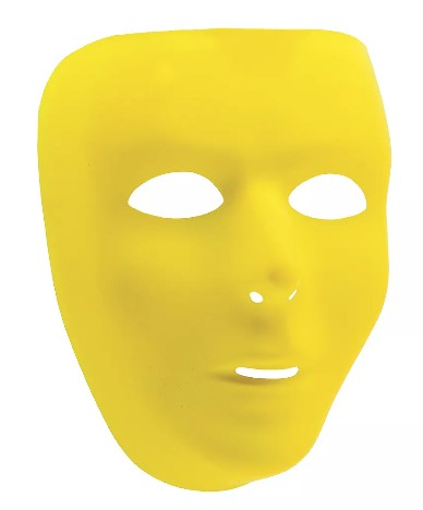 Yellow Full Face Mask | 1ct