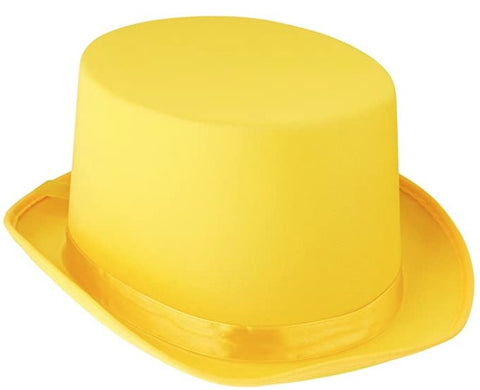 Yellow Satin Sleek Top Hat | 1ct