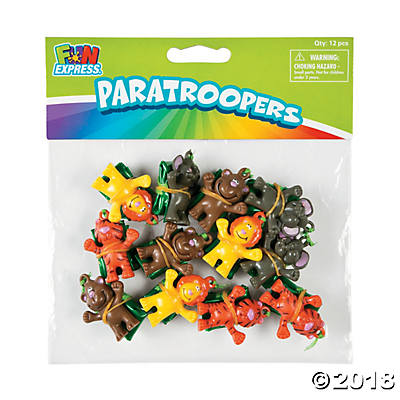 Zoo Animal Paratroopers | 12ct