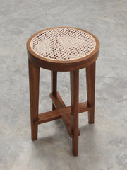 High Stool with Cane Seat