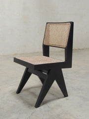 Pierre Jeanneret Dining Chair in Black