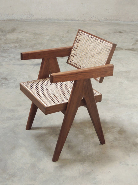 Chandigarh Office Cane Chair Pierre Jeanneret Re Edition