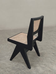 Armless Dining Chair - Black Finish