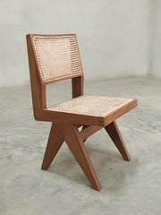 Armless Dining Chair - Natural Teak finish