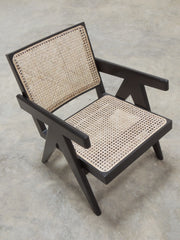 Pierre Jeanneret Easy Armchair in Black