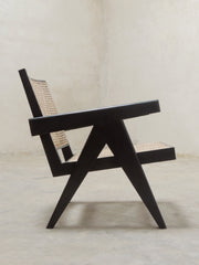 Black Pierre Jeanneret Easy Armchair