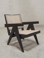 Black Pierre Jeanneret Lounge Chair