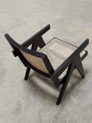 Jeanneret Easy Chair in Black finish
