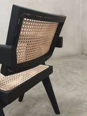 Office Chair (V leg) - Black Finish